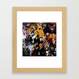 anime all Framed Art Print