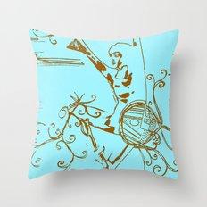 Tiny Dancer [Locust] Throw Pillow