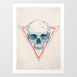Skull in triangle II Art Print