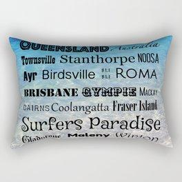 Queensland Poster Rectangular Pillow