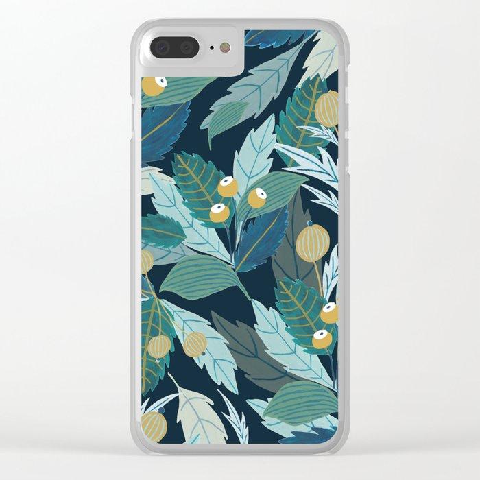 Midnight Folk Clear iPhone Case