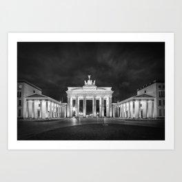 BERLIN Brandenburg Gate   Monochrome Art Print