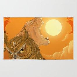 Solar owls -sun  Rug