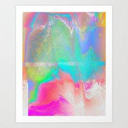 Nous Pneumatic - Glitch Holographic Art Art Print