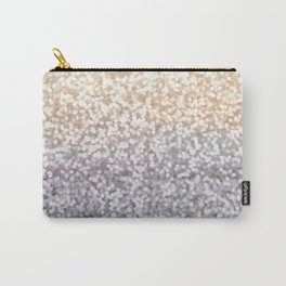 Champagne and Gray Glitter Ombre Carry-All Pouch