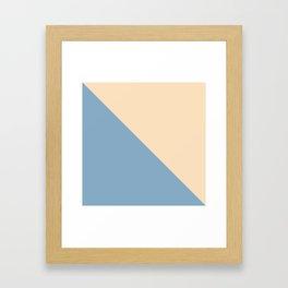 blue and beige triangular background Framed Art Print