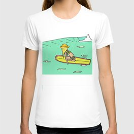 Moving Forward // lady slider surf art // surfy birdy T-shirt