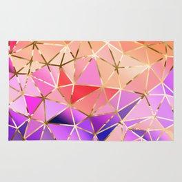 Rainbow Geometric pattern #4 Rug