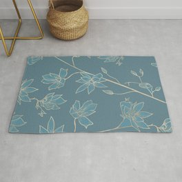 Blueprint Color of the year - Floral 2 Rug