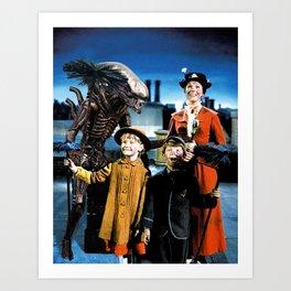 Alien in Mary Poppins Art Print