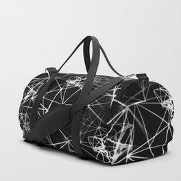 Geometric himmeli ornaments as minimal negative pattern Duffle Bag