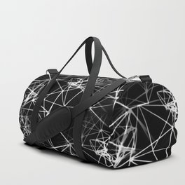 Geometric himmeli ornaments as minimal negative pattern Duffle Bag