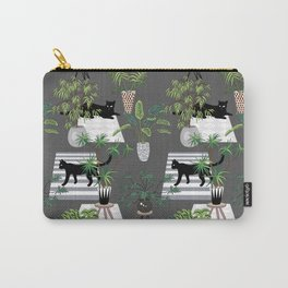 cats in the interior dark pattern Carry-All Pouch