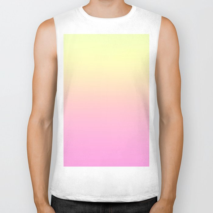 PEACH DREAMS - Minimal Plain Soft Mood Color Blend Prints Biker Tank