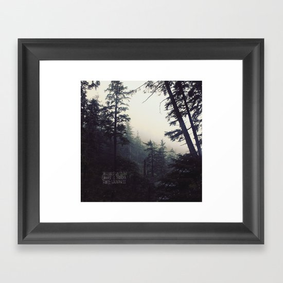 Forest Universe II Framed Art Print