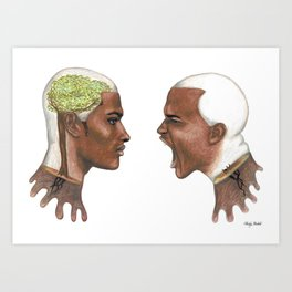 """""""Inner growth changes our reality"""" (male version). Art Print"""
