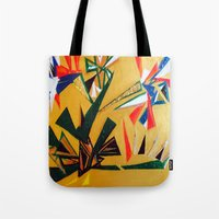 oakland Tote Bags featuring Oakland Wall Flower by Oakland.Style