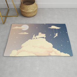 Pianist in the clouds Rug