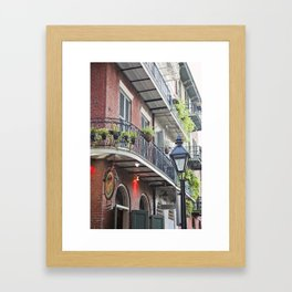 New Orleans Pirates Alley Streetlamp Framed Art Print