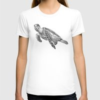 sea turtle T-shirts featuring Sea Turtle by Laura Hines