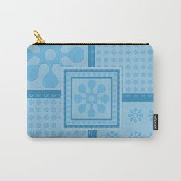 Blue blocks repeat Carry-All Pouch