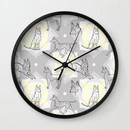 Thai Ridgeback Pattern Wall Clock