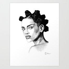 Rih in Ink Art Print
