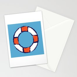 lifeguard buoy blue #nauticaldecor Stationery Cards