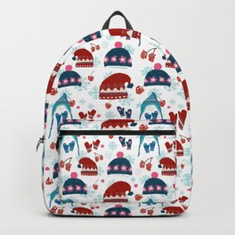 Winter and Christmas patterns Backpack
