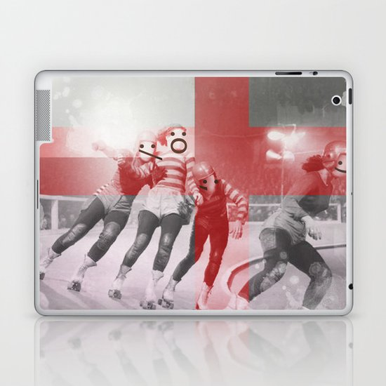 Punchtuation Roller Derby Laptop & iPad Skin