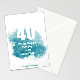AgeIsJustANumber-40-SkyBurstA Stationery Cards