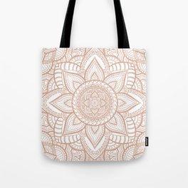 Rose Gold Mandala Pattern Tote Bag