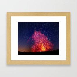 Kilauea Volcano Eruption .2 Framed Art Print