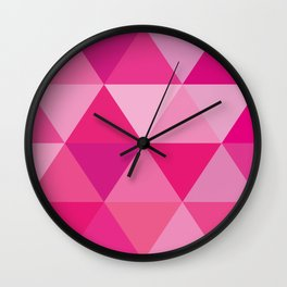 Story of Pinks and Fuchsias Wall Clock