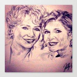 Debbie & Daughter Canvas Print