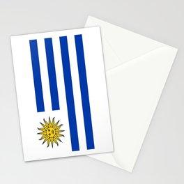 flag of Uruguay-Uruguyan,montevideo,spanish,america,latine,Salto,south america,paysandu,costa,sun,be Stationery Cards