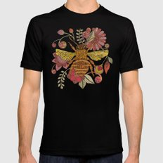 Bee awesome MEDIUM Mens Fitted Tee Black