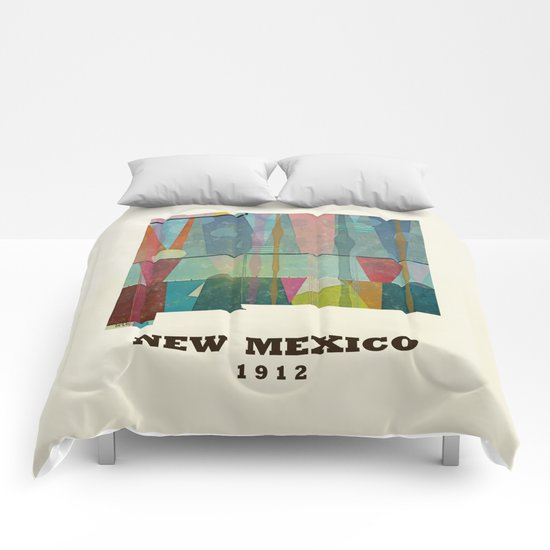 new mexico map modern Comforters