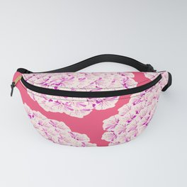 Large Flower Balls On Red Background - #Society6 #buyart Fanny Pack