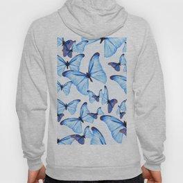 Butterflies Blue Wings White Background #decor #society6 #buyart Hoody