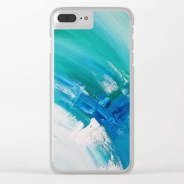 Turquoise Compositon IV Clear iPhone Case