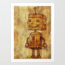 Optimistic Robot Art Print