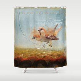 Kathmandu Cinnamon Sparrows Shower Curtain