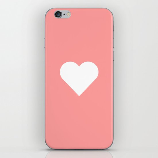 Peach Heart iPhone & iPod Skin