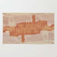 roman Area & Throw Rugs featuring Roman Ruins by Chicago Artist