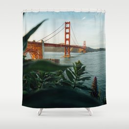 San Francisco Bridge Plant (Color) Shower Curtain