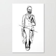MENBEARD VS MENRAPPEUR Canvas Print