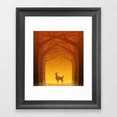 Sunrise Deer Framed Art Print