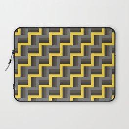 Plus Five Volts - Geometric Repeat Pattern Laptop Sleeve