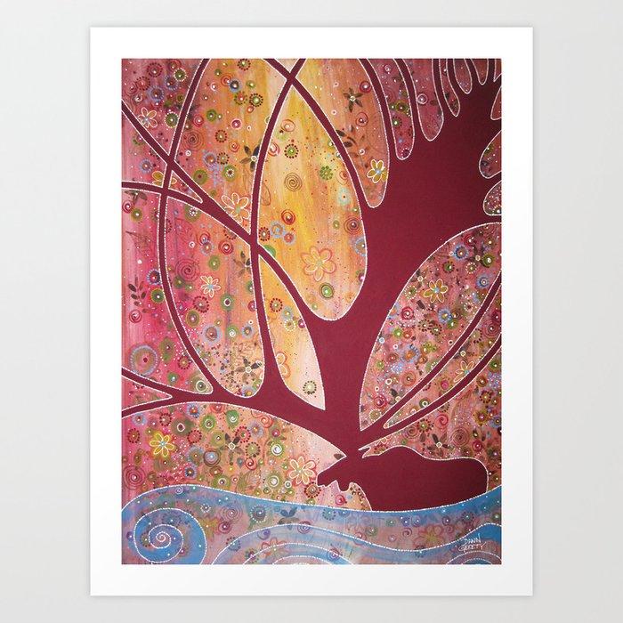 River Moose Art Print